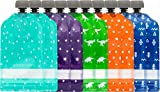 Simple Modern Reusable Food Pouches 10-Pack 5oz - Baby Food Storage Toddler Kids Squeezable Pouch Washable Freezer Safe - 5 Fun Designs