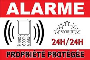 alarme maison panneau