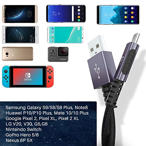VicTsing Cavo USB Tipo C (3 Pezzi), USB Type C 3A Ricarica Rapida, Cavi USB C per Samsung GalaxyS9/S9+ Note 9, Huawei P20 Lite, MacBook, Sony, Google Pixel, OnePlus 2/3, 3 Pezzi 0.3M/1M/2M