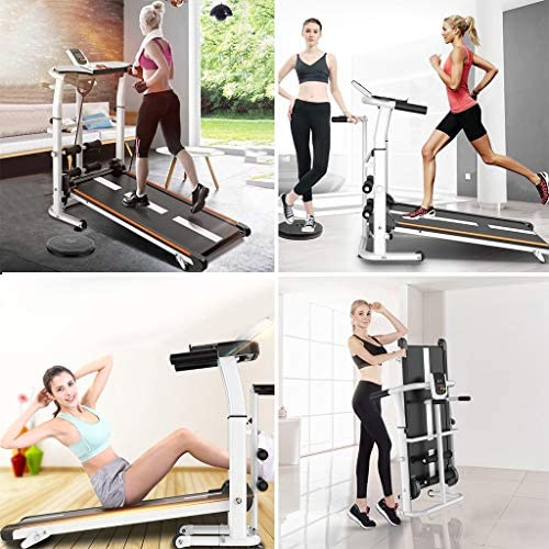 NBSR Folding Treadmill for Home,Treadmills for Women 340lbs Weight Capacity Silent Treadmill Folding Shock Running, Supine, Twisting, Draw Rope 4-in-1 Mechanical Mini Walking Machine 5
