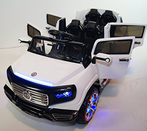 kids car power wheels 4 doors car with parent remote control 12v battery operated electric 2. Black Bedroom Furniture Sets. Home Design Ideas