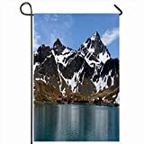 Ahawoso Garden Flag 12x18 Inches Arctic Port Antarctica Grytviken Old Whaling Station On Ocean South Ship Parks Antarctic Archipelago Decorative Seasonal Double Sided Home House Outdoor Yard Sign
