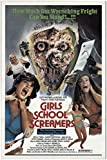 "Girls School Screamers 1986 Authentic 27"" x 41"" Original Movie Poster Fine Beth O'Malley Horror U.S. One Sheet"