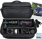 Extra Large Soft Padded Camcorder Equipment Bag / Case For Canon XA10, XA20, XA25, XH-G1s, XL2 & More… + eCostConnection Microfiber Cloth