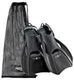 US Divers Trek Travel Fin, Black - Large