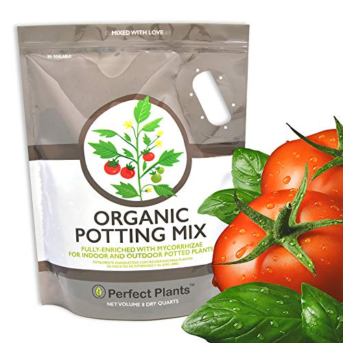 Organic Potting Mix by Perfect Plants for All Plant Types - 8qts for Indoor and Outdoor Use