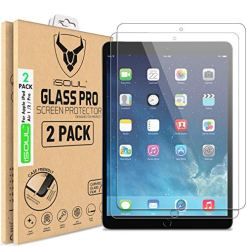 [2 Pack] Screen Protector for Apple iPad Air, Air 1, iPad Air 2, iPad Pro Tempered Glass Film 9H HD, Premium Shatterproof Protectors [9.7-inch, 2018/2017 Model] [Ultra Strong] [ Easy Installation]