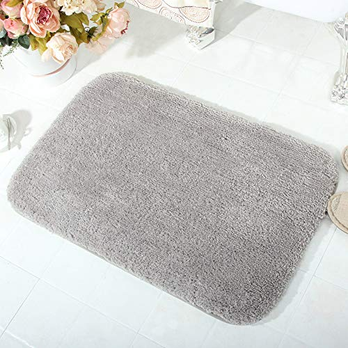 Wanzhan Luxury Gray Thick Bath Mat