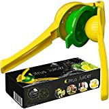 Lemon Squeezer Hend Held Juicer - Citrus Hand Manual Press Juicers Squeeze for Lemon Lime Orange Juice Fruit Heavy Duty Easy to Clean Dishwasher Safe Aluminum Premium Quality Professional Kitchen Tool