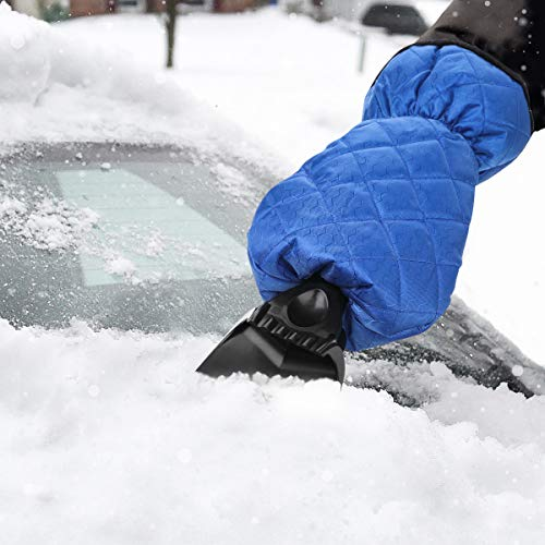 ELUTO Ice Scraper Mitt for Car Windshield Snow Scraper