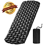 Furthertry Camping Pad,Self Inflating Sleeping Pad for Camping,Backpacking and Hiking,Winter Camping Pad,Kids Sleeping Pad-Black