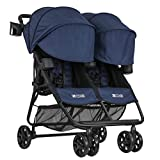 ZOE XL2 Best v2 Lightweight Double Travel & Everyday Umbrella Twin Stroller System (London Navy)