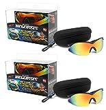 Bell + Howell TAC GLASSES Sports Polarized Sunglasses for Men/Women As Seen On TV (Set of 2)