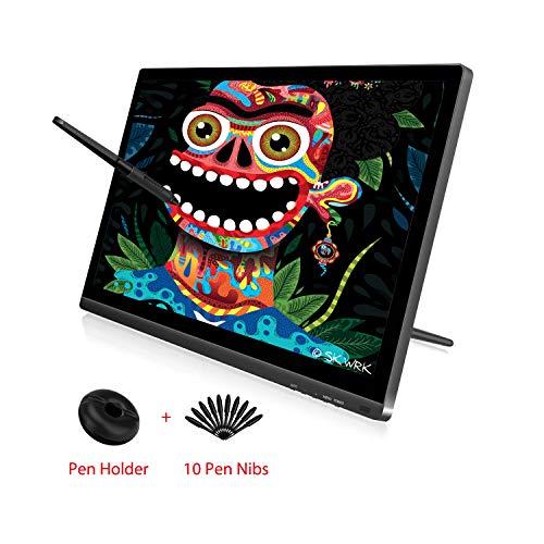 Huion KAMVAS GT-191 V2 Drawing Monitor with HD Screen Drawing Tablet Battery-Free Stylus 8192 Pen Press 10 Pen Nibs - 19.5 Inch