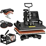 F2C Pro 5 in 1 Swing-Away Digital Transfer Sublimation Heat Press...