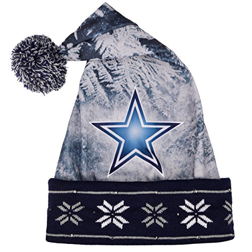 Nfl dallas cowboys light up printed santa hat one size