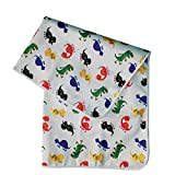 Splat Mat, Waterproof, Washable for Floor or Table, Under Highchairs, Art, Crafts, Playtime - Dinosaur