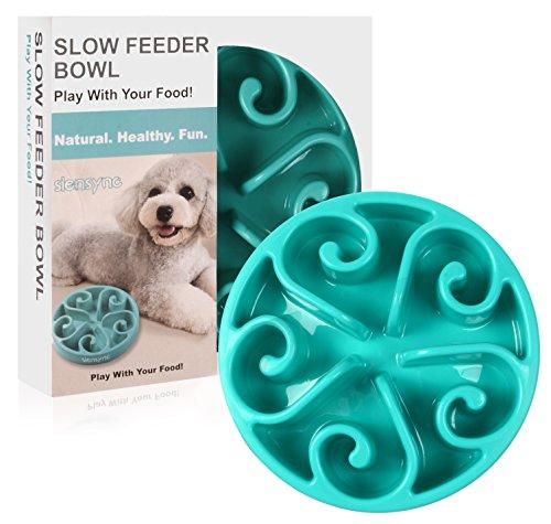 Siensync Slow Feeder Dog Bowl, Non Slip Puzzle Bowl Fun Feeder Interactive Bloat Stop Dog Bowl