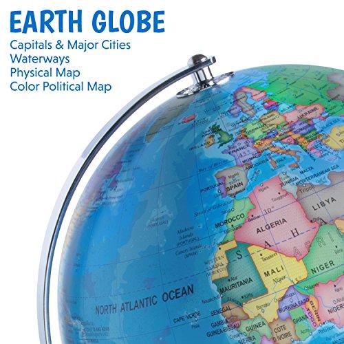 3 in 1 illuminated world globe nightlight and constellation globe 3 in 1 illuminated world globe gumiabroncs Choice Image