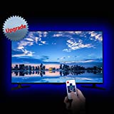 LED Strip Lights, LitSoul USB Bias Lighting LED TV Backlight for 60-75in Television, Neon Accent Bias Light for HDTV 4 Sides, Monitor Backlight with RF Remote Controller & Strong Adhesive Tape 13.2ft