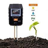 Tacklife Soil Test Kit, 3-in-1 Soil Moisture/Light/PH Tester Kit, Ideal for Garden, Plant, Farm, Lawn, Indoor & Outdoor (No Battery Needed) - MST01