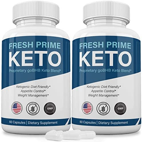 (2 Pack) Fresh Prime Keto Pills Shark Tank, Fresh Prime Keto Weight Loss Capsules BHB Supplement 800mg, Keto Fresh Prime Diet Pills BHB Ketones Slim Pills for Energy, Focus for Men Women 1