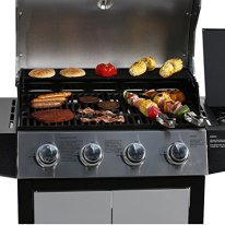 MASTER-COOK-Gas-Grill-BBQ-4-Burner-Cabinet-Style-Grill-Propane-with-Side-Burner-Stainless-Steel