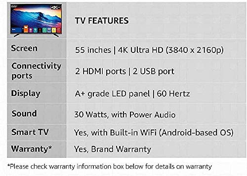 Kevin 140 cm (55 Inches) 4K UHD | HDR-10 LED Smart TV KN55UHD (Black) 3