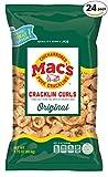 Mac's Original Pork Cracklin Curls - Crunchy Low Carb Keto Friendly Snack, Cracklin' / Crackling Curls (1.75 oz bags, 24 ct)