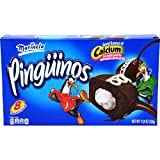 Pinguinos Marinela - Cream Filled Chocolate Cup Cakes - 6 Pastelitos - 8.46 oz