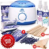 New Waxing Kit - Wax Warmer - Post-Wax Treatment Spray - Depilatory Wax - Hot Hard Scented Wax Warmers Electric Kit for Men - Women - Brazilian Eyebrow Home Body Waxing Kits - Prime