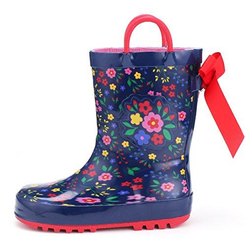 KomForme Kids Girl Rain Boots, Waterproof Rubber...