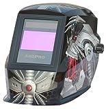 ArcPro 20704 Auto-Darkening Solar Powered Welding Helmet with Grinding Mode, Alien Design
