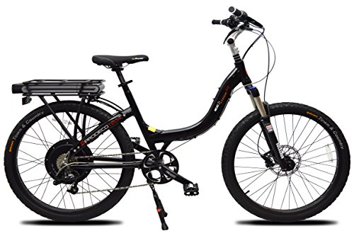 "ProdecoTech Stride 500 B V5 36V500W 8 Speed Electric Bicycle 11Ah Samsung Li-Ion, Satin Black, 18""/One Size"