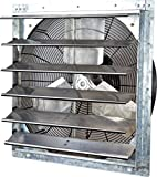 Iliving 24 Inch Variable Speed Shutter Exhaust Fan, Wall-Mounted, 24