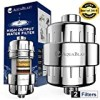 AquaBlast 12-Stage Shower Head Filter (Universal) Hard Water Softener, High-Output Power | Cleans and Purifies Chlorine, Heavy Metals, Impurities, Bacteria | Easy Install