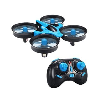 RC Quadcopter Drone,TECKEPIC H36 Mini UFO Drone 2.4G 4CH 6 Axis Headless Mode Remote Control One Key Return and 3D Flip Nano Quadcopter RTF Mode 2 for Kids and Beginners Drone Training 51zmFXy9LhL