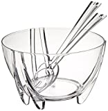 Prodyne SB-3-C Prodyne Acrylic Salad Bowl with Servers
