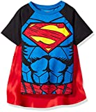 Warner Bros Little Boys' Toddler Superman Cape T-Shirt Set, Blue, 5T