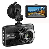 """Dash Cam FHD 1080P Car Camera DVR Dashboard for Cars 3"""" LCD Screen with 170°Wide Angle,G-Sensor, WDR, Parking Monitor, Loop Recording Motion Detection Driving Recorder-Black"""