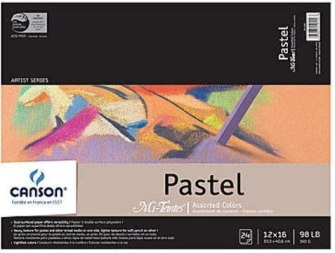Canson Mi-Teintes Pastel Assorted Pad