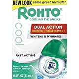 Rohto Fast Acting Redness Reliever Cooling Eye Drops, 0.4 Oz (2 Pack)