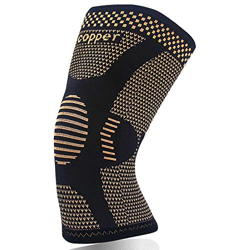 Knee Brace for Arthritis Pain and Support-Best Copper Knee Sleeve Compression for Sports, Workout,Arthritis Relief-Single(XXL)