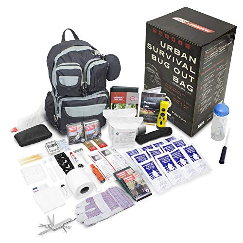 Emergency Zone 840-2 Urban Survival Bug Out Bag Emergency 72 Hour Disaster Kit, 2 Person, Black