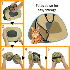 SportPet-Designs-Cat-Carrier-With-Zipper-Lock-Foldable-Travel-Cat-Carrier