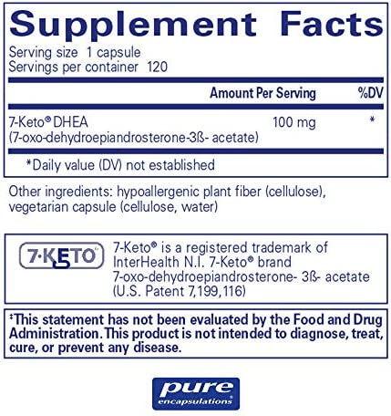 Pure Encapsulations - 7-Keto DHEA 100 mg - Unique DHEA Metabolite to Support Thermogenesis and Healthy Body Composition - 120 Capsules 4