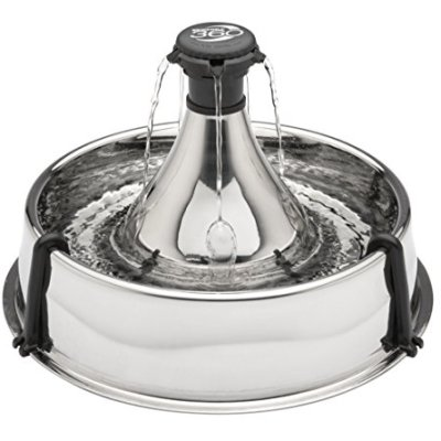 PetSafe Drinkwell Stainless 360 Multi-Pet Fountain – 128...
