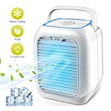 Personal Air Conditioner Fan, Air Personal Space Cooler Small Desktop Fan Quiet Personal Table Fan Mini Evaporative Air Circulator Cooler Humidifier Bladeless Quiet for Office, Dorm, Room, Outdoor