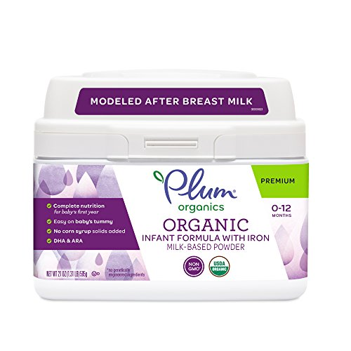 Plum Organics, Organic Infant Formula with Iron, 21 ounce (Packaging May Vary)