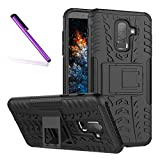 J8 2018 Case, Tyre Pattern Design Heavy Duty Tough Armor Extreme Protection Case With Kickstand Shock Absorbing Detachable 2 in 1 Case Cover For Samsung Galaxy J8 2018. Hyun Black